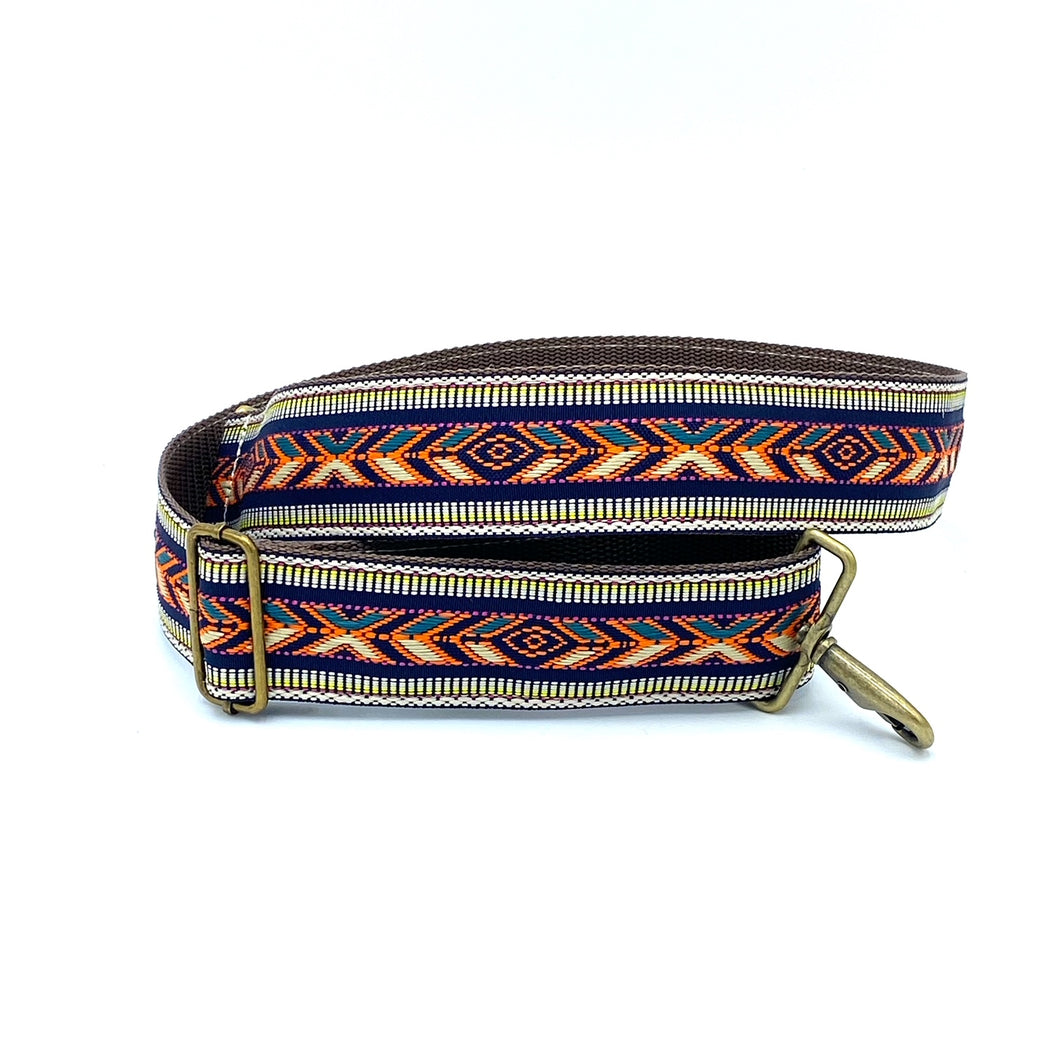 Vintage Trim Strap - multi-colored geometric