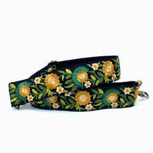 Load image into Gallery viewer, Vintage Sari Trim Strap - Black, yellow, blue and green