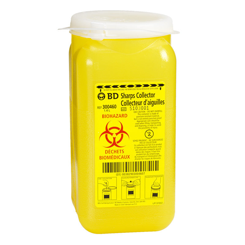 1.5 - Quart (1.4 Liter) BD Sharps Container