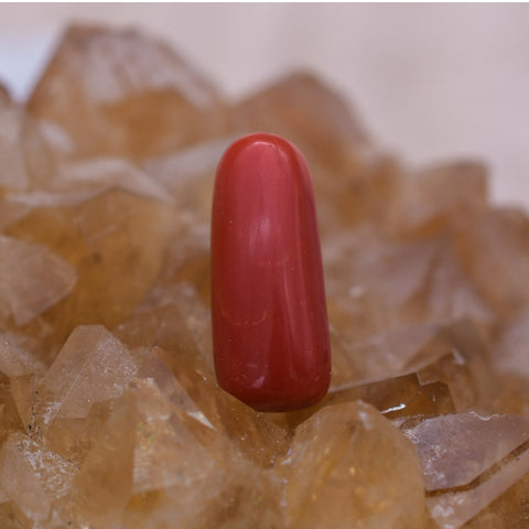 Natural 5.25 Ct Red Coral Stone
