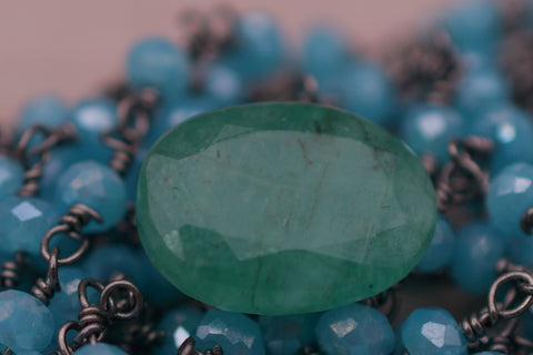 Image of 5.50 Ct Genuine Certified Emerald Gemstone