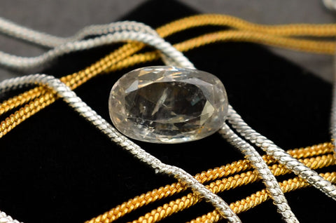 6.23 Ct Real Certified Yellow Sapphire Gemstone