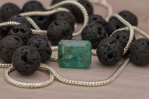 Image of Earth Mined Natural Certified Emerald Gemstone