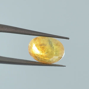 Faceted Certified Natural 4.07 Ct Original Yellow Sapphire Gemstone