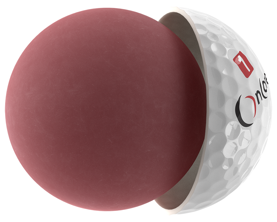 ball core of oncore golf ball
