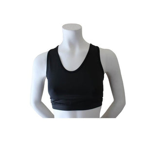 Women's Sports Bra with Optional Chest Protection Inserts