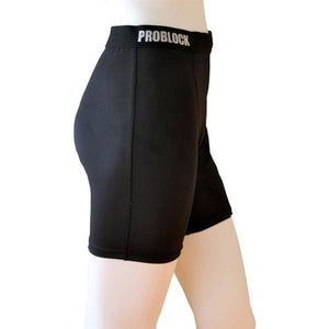 Women's Workout Shorts with Integrated Groin Protection Pocket