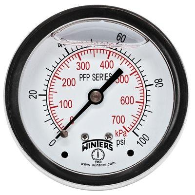 WINTERS PFP SERIES PREMIUM STAINLESS STEEL LIQUID FILLED PRESSURE GAUGE