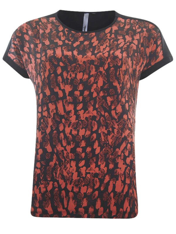 Top met all over print