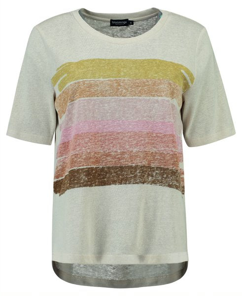 T-Shirt in Linnenlook