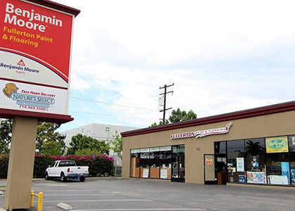 Fullerton Paint & Flooring Storefront and Parking Lot, Anaheim, CA