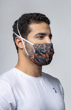 Load image into Gallery viewer, Futuristic Reusable Mask - Neon Orange