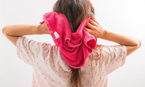 Improperly Drying Hair with Towels
