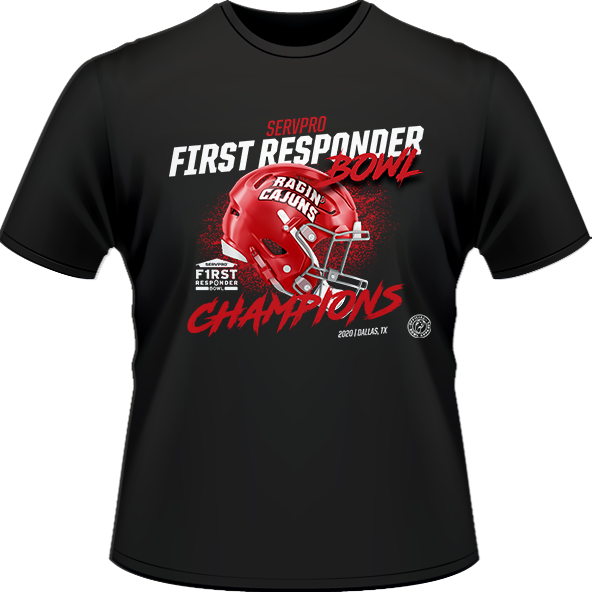 2020 LOUISIANA RAGIN' CAJUNS CHAMP TEE