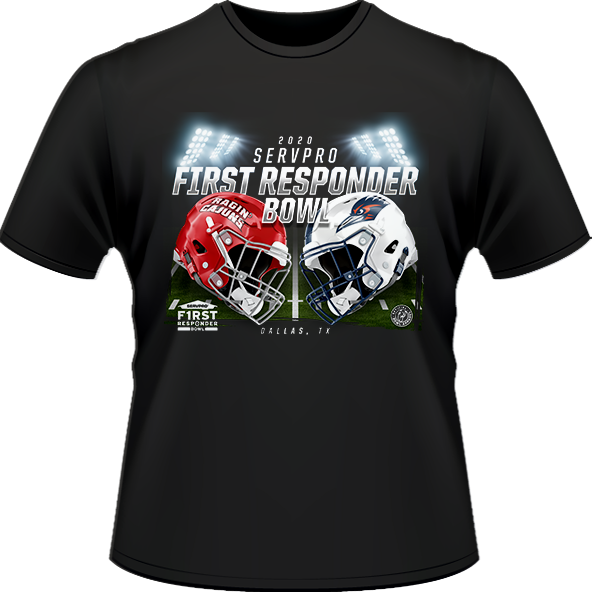 LOUISIANA RAGIN' CAJUNS VS UTSA ROADRUNNERS 2020 FIRST RESPONDER BOWL GAME TEE