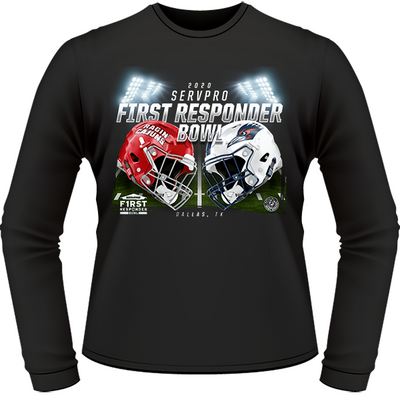LOUISIANA RAGIN' CAJUNS VS UTSA ROADRUNNERS 2020 FIRST RESPONDER BOWL GAME LONG SLEEVE