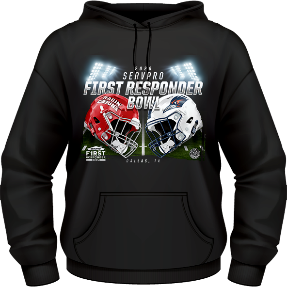 LOUISIANA RAGIN' CAJUNS VS UTSA ROADRUNNERS 2020 FIRST RESPONDER BOWL GAME HOODIE