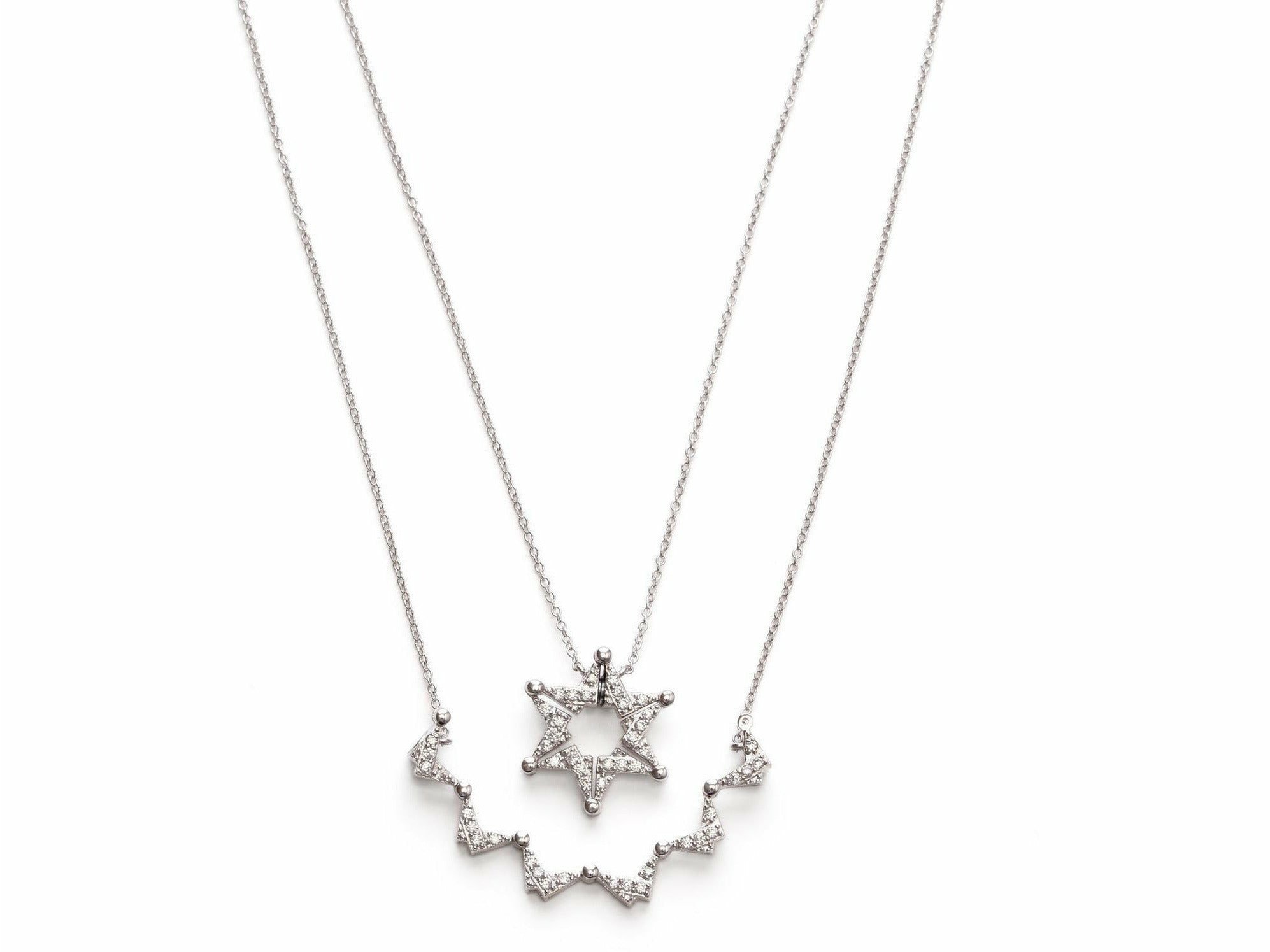 Convertible Star of David and Butterfly Necklace