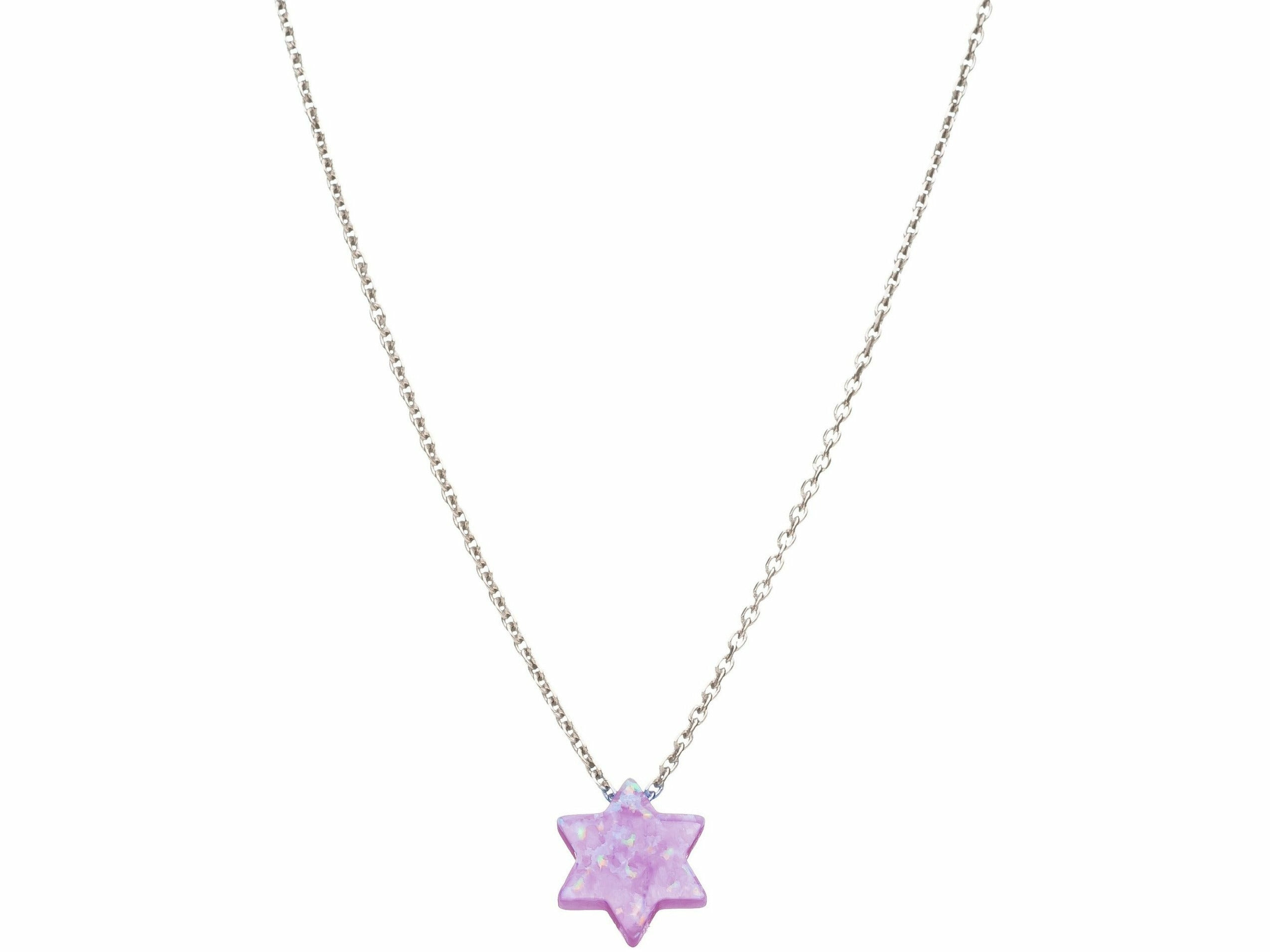 Opal Star of David Necklace