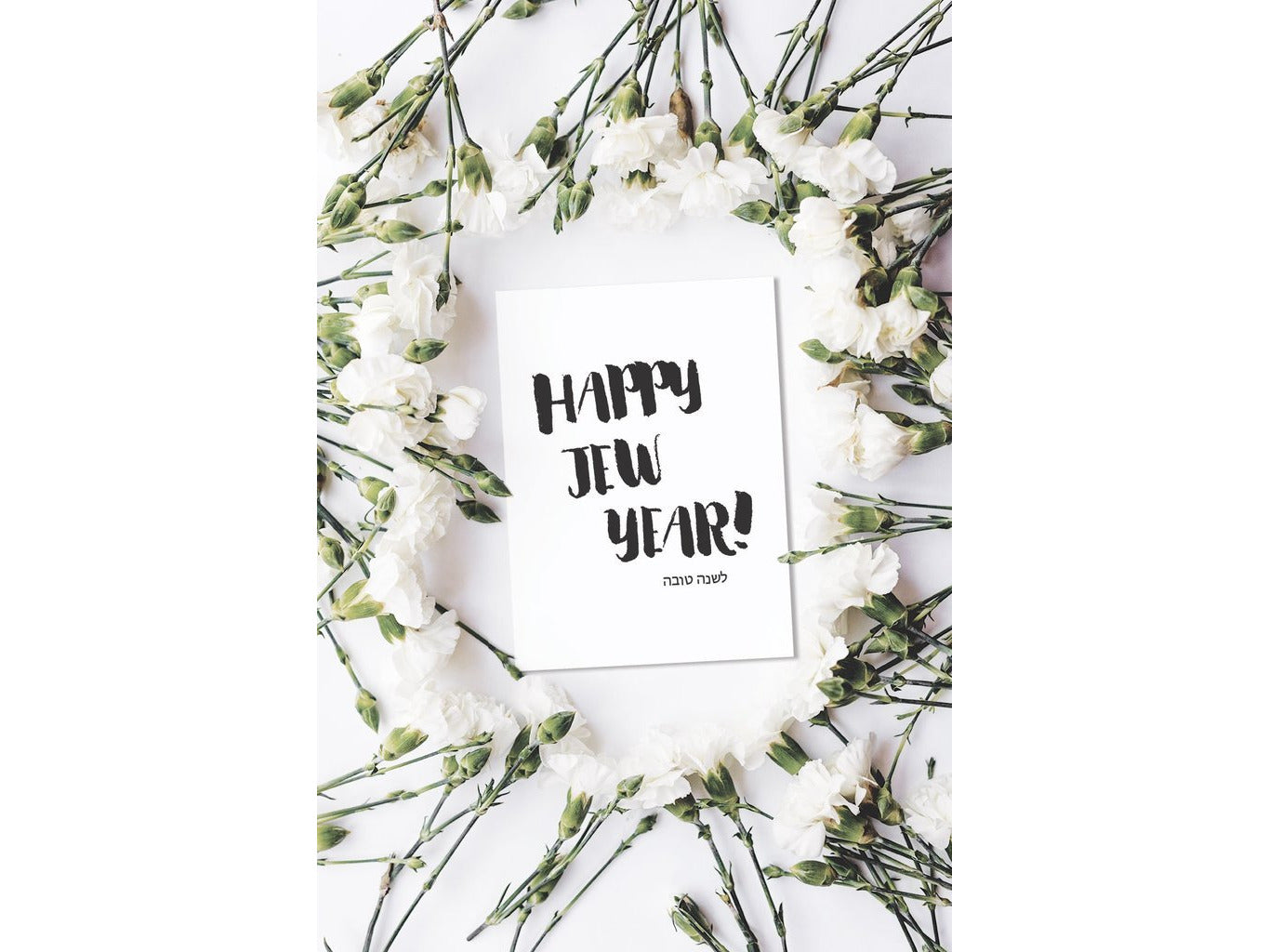 Happy Jew Year - Rosh Hashanah Greeting Cards - Pack of 6