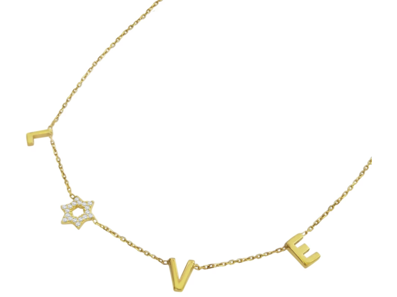 Love Star of David Necklace with Diamonds