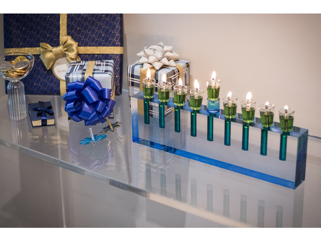 Acrylic Oil Menorah