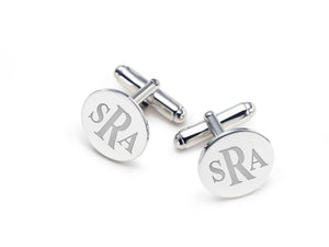 Custom Silver Initial Cuff Links