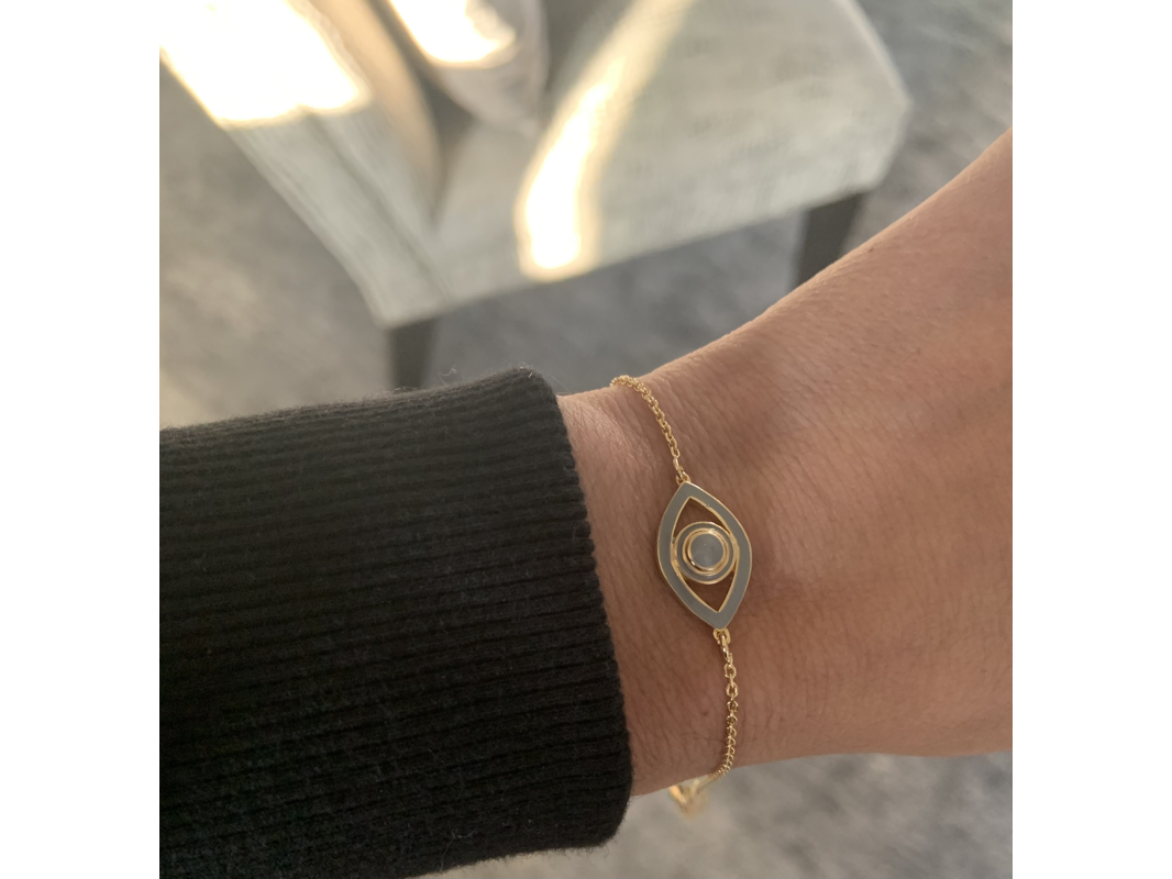 Enamel Eye Bracelet - Mini