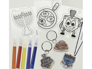 Hanukkah Shrink Art,  Six Assorted Designs