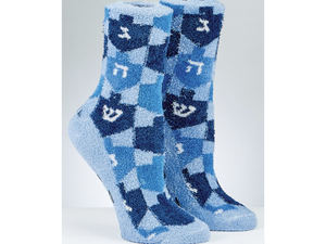 Chanukah Cozy Slipper Socks, Dreidel