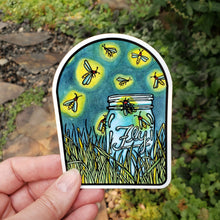 Load image into Gallery viewer, Fireflies Sticker - Sarah Angst Art Greeting Cards, Stickers, and More