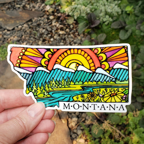 The Best Montana Sticker - Sarah Angst Art Greeting Cards, Stickers, and More