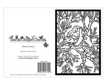 Load image into Gallery viewer, BW188 Bluebirds Coloring Card