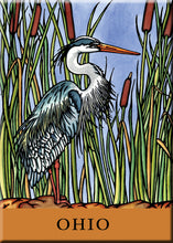 Load image into Gallery viewer, Name Dropped Magnet - Blue Heron