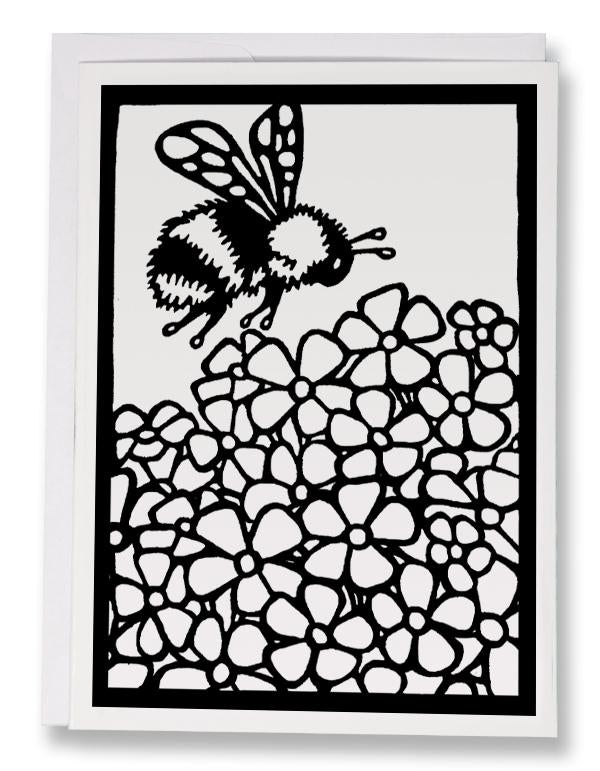 BW234 Bumble Bee Coloring Card