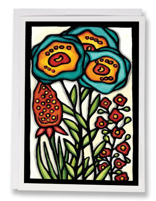 Turquoise Beauties - 243 - Sarah Angst Art Greeting Cards, Giclee Prints, Jewelry, More