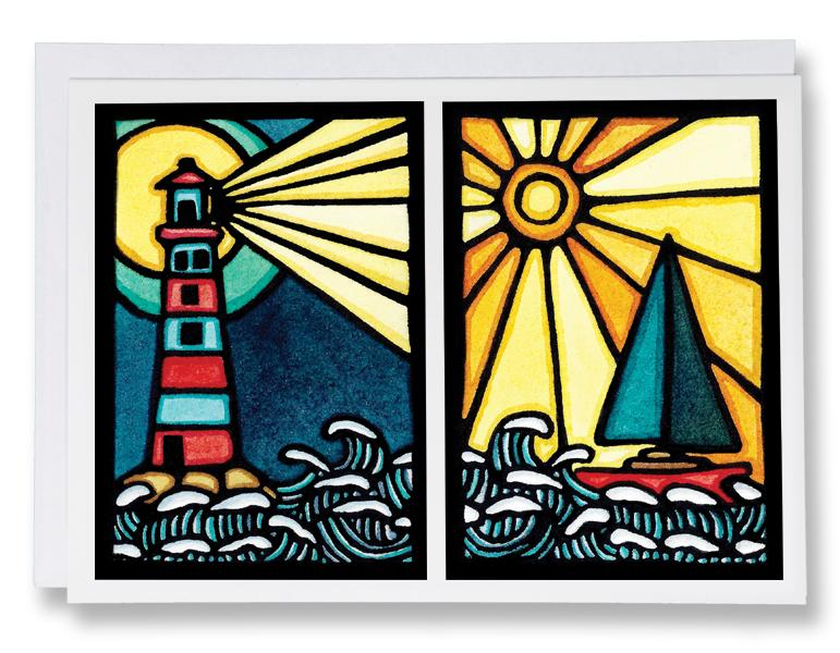 Set Sail & Shine Bright - 244 - Sarah Angst Art Greeting Cards, Giclee Prints, Jewelry, More