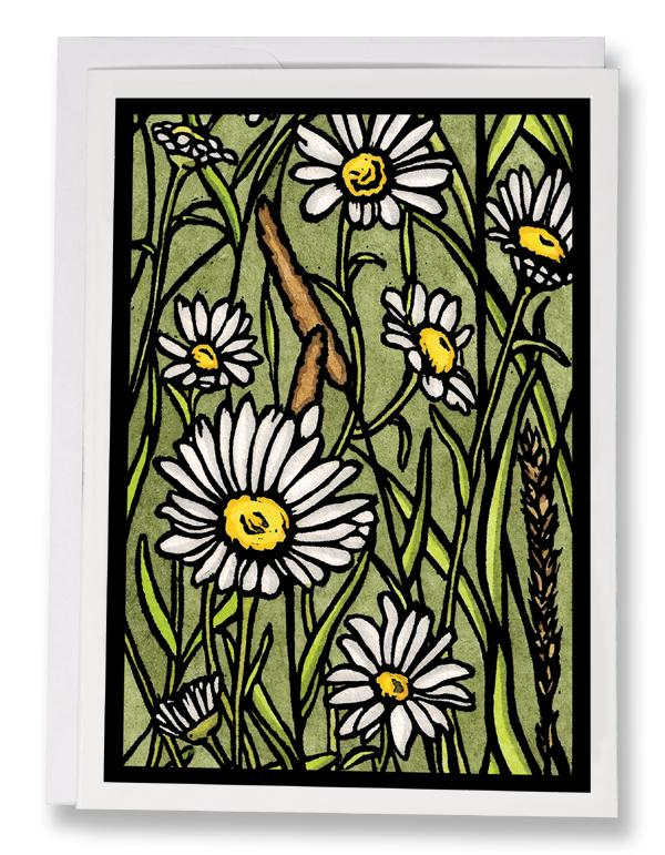 SA052: Nothing But Daisies - Sarah Angst Art Greeting Cards, Giclee Prints, Jewelry, More