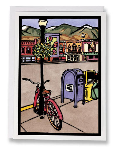 SA055: Main Street - Sarah Angst Art Greeting Cards, Giclee Prints, Jewelry, More