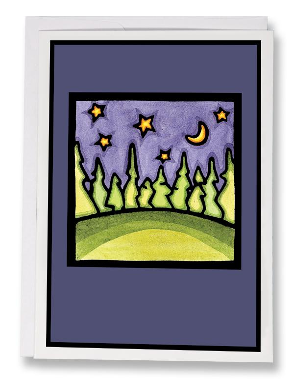 SA056: Clear Sky at Night - Sarah Angst Art Greeting Cards, Giclee Prints, Jewelry, More