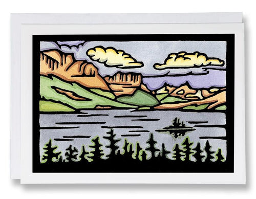 SA058: St. Mary Lake - Sarah Angst Art Greeting Cards, Giclee Prints, Jewelry, More