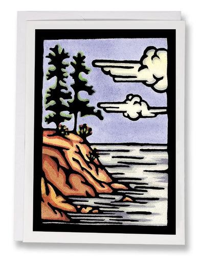 SA062: Rocky Shore - Sarah Angst Art Greeting Cards, Giclee Prints, Jewelry, More