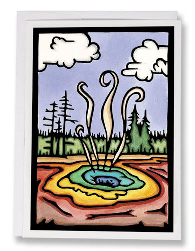 SA064: Thermal Pools - Sarah Angst Art Greeting Cards, Giclee Prints, Jewelry, More