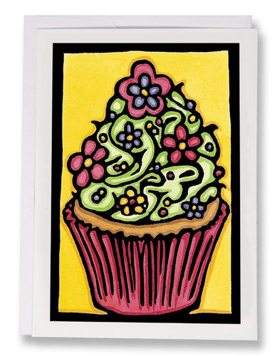 SA079: Cupcake - Sarah Angst Art Greeting Cards, Giclee Prints, Jewelry, More