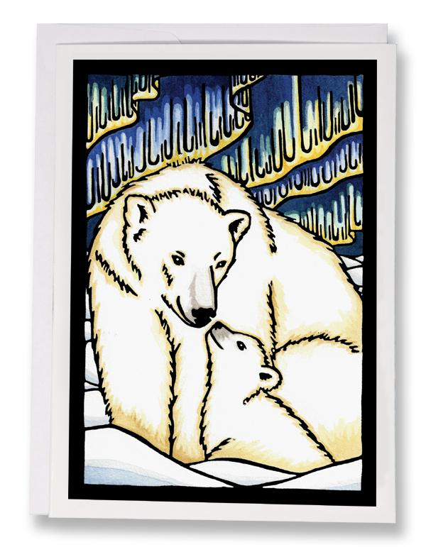 SA149: Polar Bear - Sarah Angst Art Greeting Cards, Giclee Prints, Jewelry, More