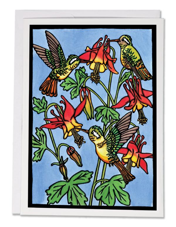 SA163: Hummingbirds - Sarah Angst Art Greeting Cards, Giclee Prints, Jewelry, More