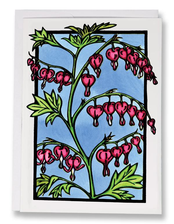 SA166: Bleeding Hearts - Sarah Angst Art Greeting Cards, Giclee Prints, Jewelry, More