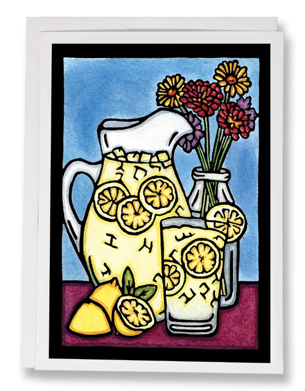 SA171: Lemonade - Sarah Angst Art Greeting Cards, Giclee Prints, Jewelry, More