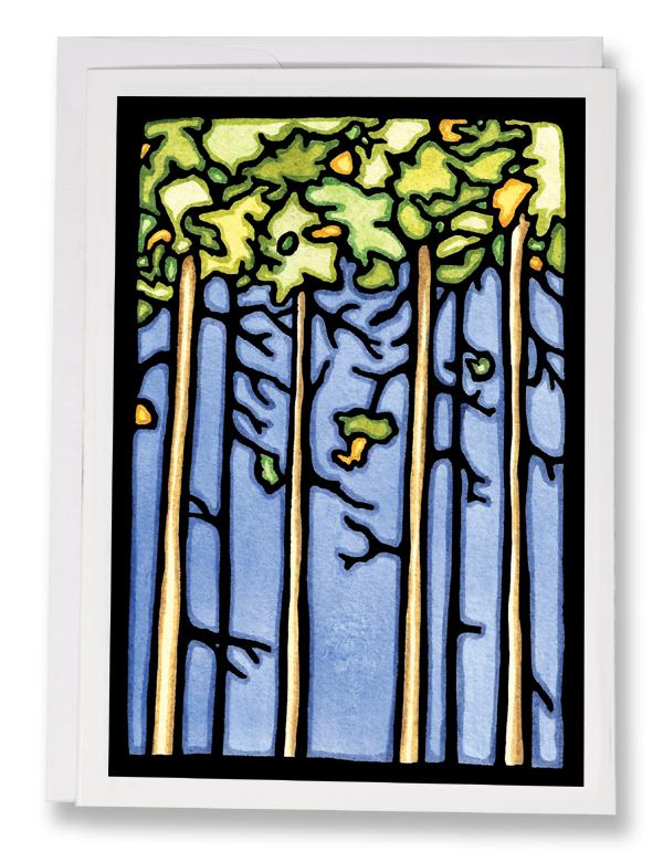 SA178: Trees - Sarah Angst Art Greeting Cards, Giclee Prints, Jewelry, More