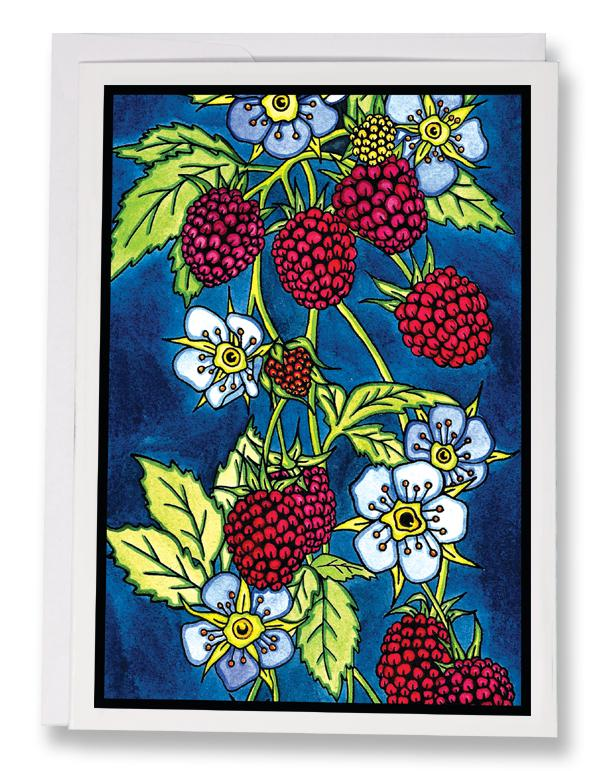 Raspberries - 203 - Sarah Angst Art Greeting Cards, Giclee Prints, Jewelry, More